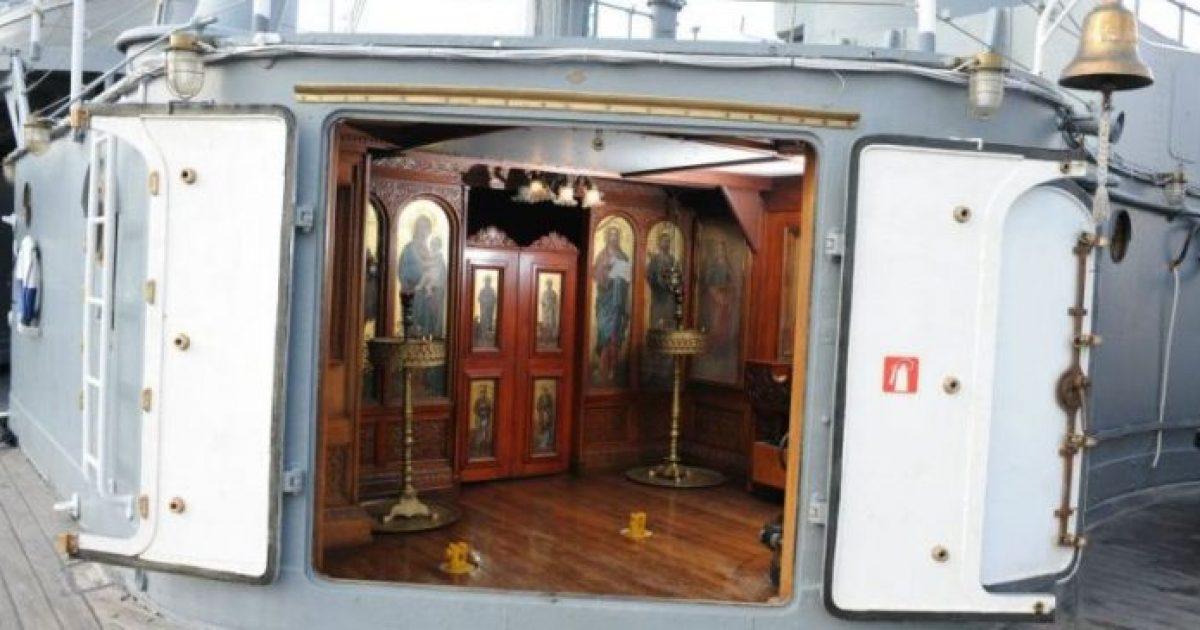 Το εκκλησάκι του Αγίου Νικολάου που προστάτευσε το «Αβέρωφ» – Το μοναδικό πλοίο που έχει ναό στο κατάστρωμα!