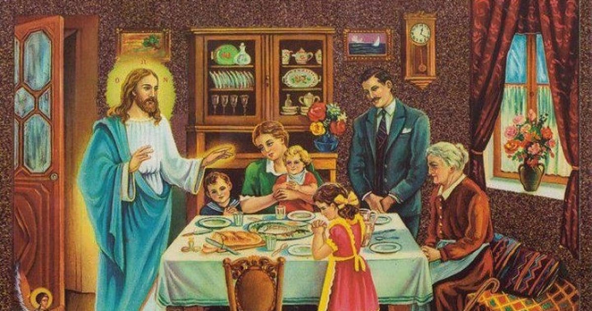 Προσευχή προ και μετά του φαγητού.