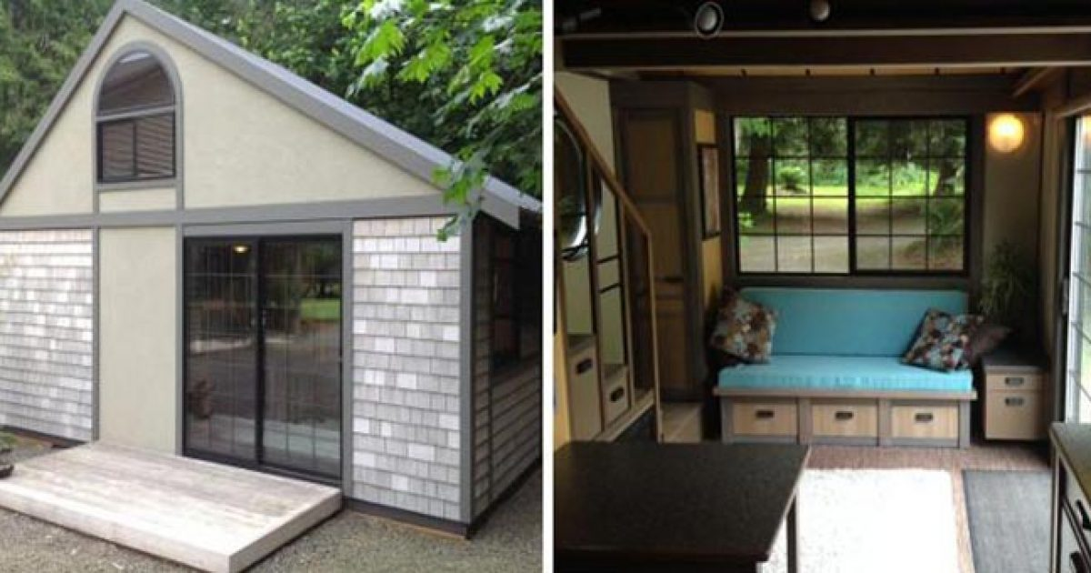 Το πιο πολυτελές μικροσκοπικό σπίτι με τζακούζι,  υπέρδιπλο κρεβάτι και ηλεκτρικό τζάκι!