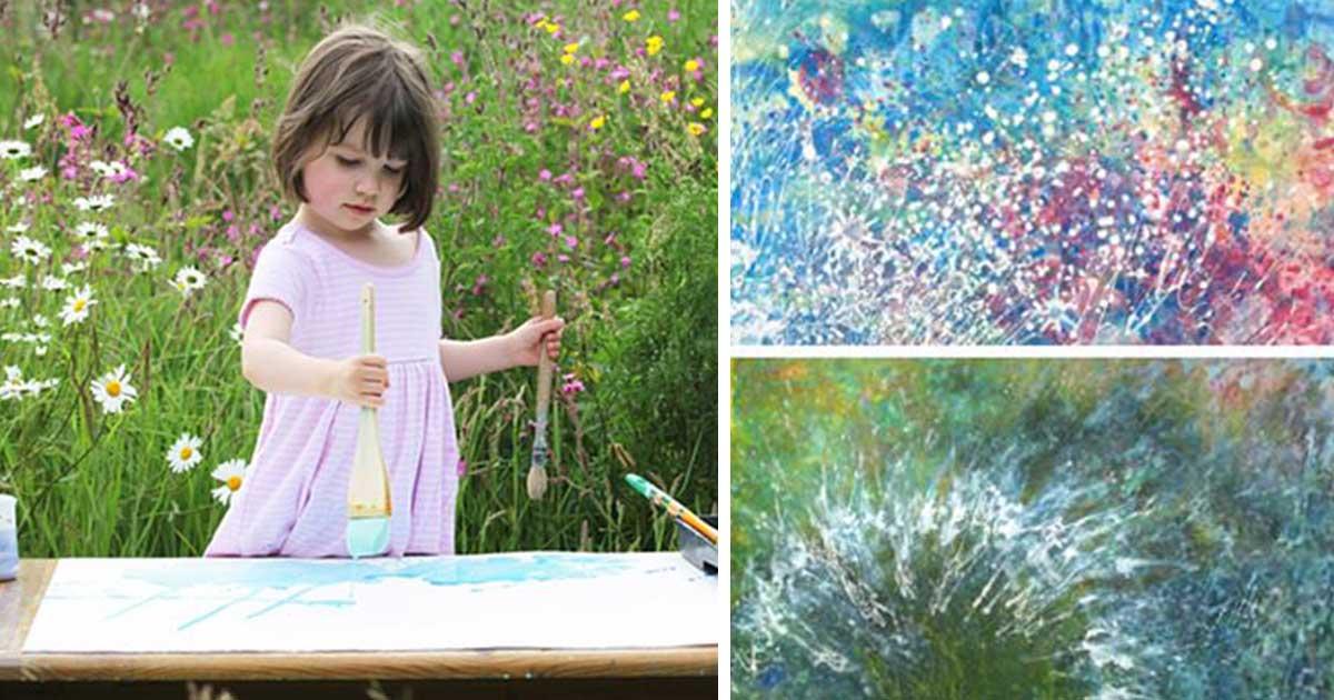 Μία 5χρονη με αυτισμό ζωγραφίζει τους πιο ωραίους πίνακες που έχετε δει!