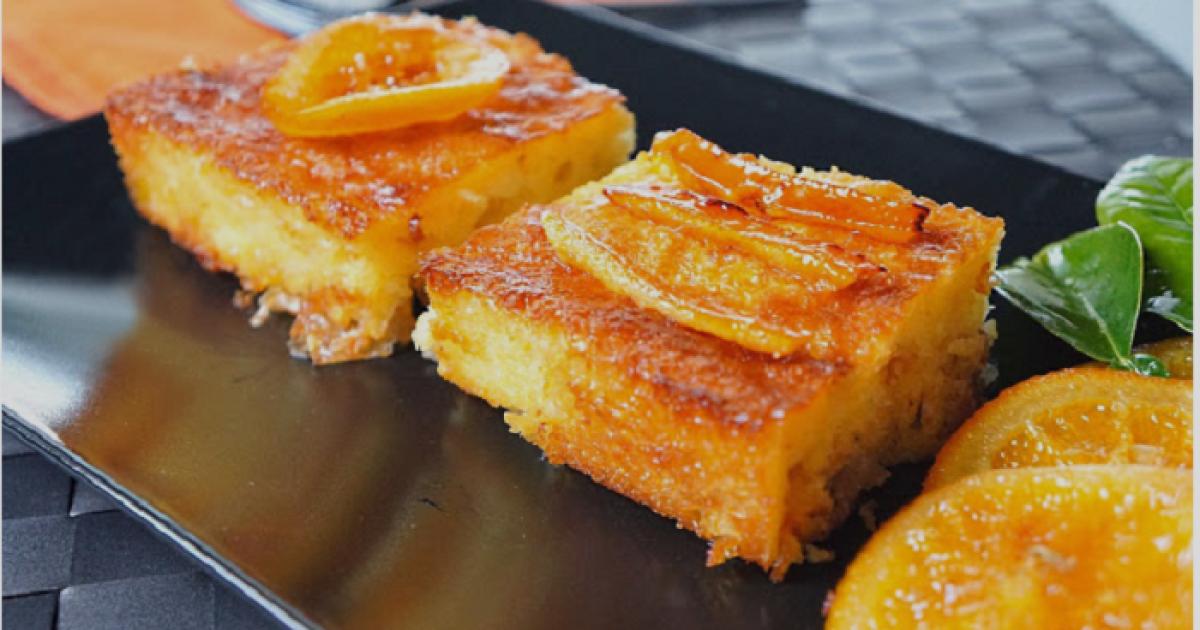Σιροπιαστή πορτοκαλόπιτα – μαγική συνταγή