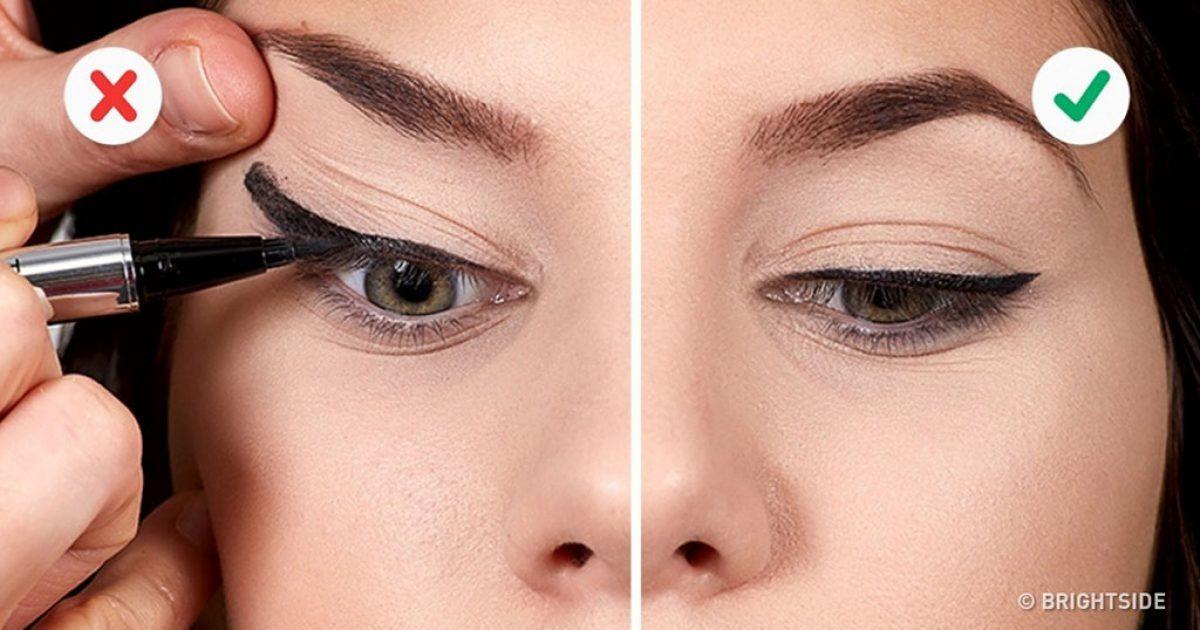 10 λάθη που καταστρέφουν την γραμμή του eyeliner