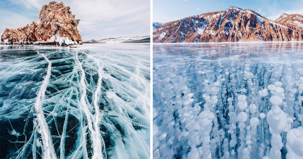 Περπάτησε πάνω στην αρχαιότερη και βαθύτερη παγωμένη λίμνη του κόσμου και την φωτογράφισε