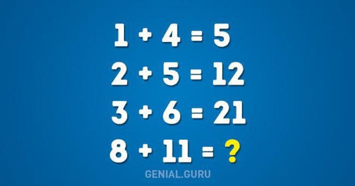 Μπορείς να λύσεις αυτό το μαθηματικό πρόβλημα; Προσπάθησε πριν δεις την απάντηση…