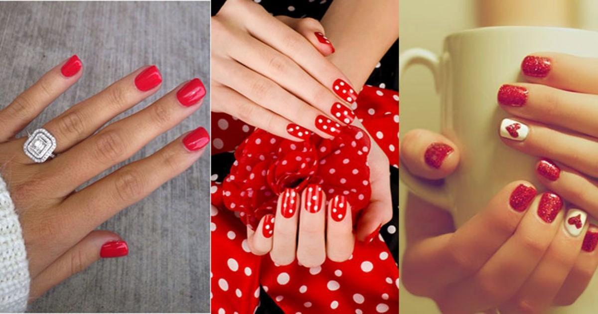 Κόκκινο Manicure: Τα πιο κομψά σχέδια για το Πάσχα που έρχεται!