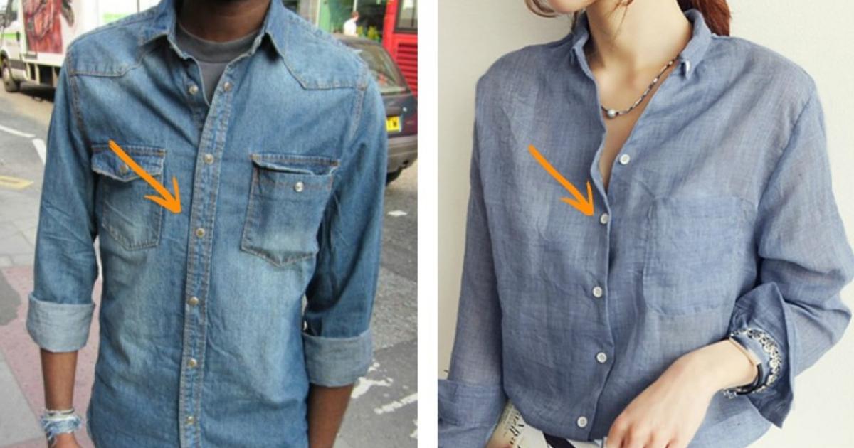 Γιατί τα κουμπιά στα ανδρικά πουκάμισα βρίσκονται στην αντίθετη πλευρά από τα γυναικεία;