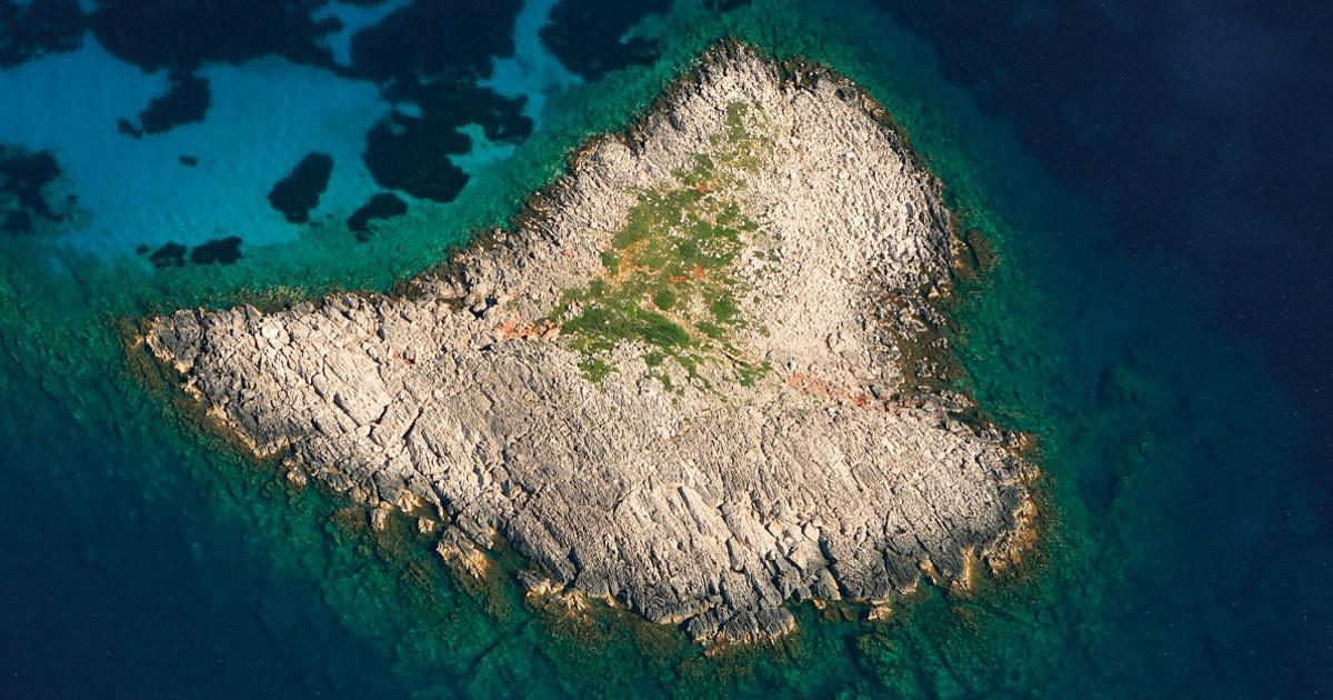 Ελληνικό νησί που έχει σχήμα καρδιάς.