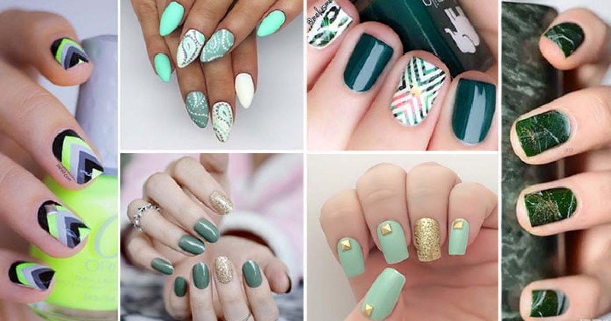 50 ιδέες για πράσινα νύχια – από κυπαρισσί μέχρι φυστικί ή στο χρώμα της μέντας